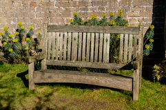 Bench in the Rose Gardens Stock Photo