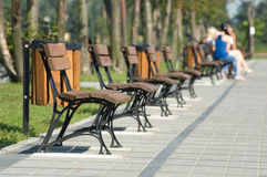 Bench row Stock Photography