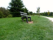 Bench at rushcliffe. Viewpoint at rushcliffe country park in Nottinghamshire Royalty Free Stock Photography