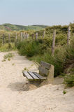 Bench in the sand dune Royalty Free Stock Image