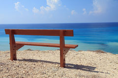 Bench and sea royalty free stock image