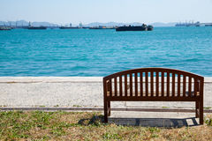Bench by the sea. Royalty Free Stock Photos