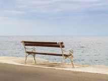 Bench at the sea (3). A bench at the sea, with a wonderful view to the sea Royalty Free Stock Photography