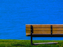 Bench at the sea Royalty Free Stock Photo