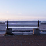 Bench and the sea stock photo