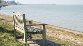 Bench on the sea. Isle of Wight Stock Photography