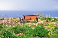 Bench at the sea Royalty Free Stock Image