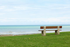 Bench with the sea view Stock Photography