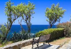 Bench with sea view Stock Image