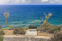 Bench with sea view Royalty Free Stock Images