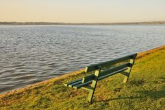 Bench at seaside Royalty Free Stock Photos