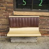 Bench seating outside. Royalty Free Stock Photo