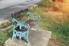 The bench seating In a public park. royalty free stock photography