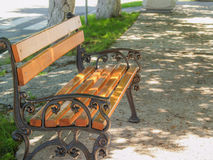 Bench in shadow Royalty Free Stock Photos