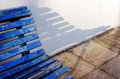 Bench and shadow Royalty Free Stock Image
