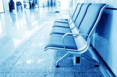 Bench in the shanghai pudong airport. Interior of the airport royalty free stock image