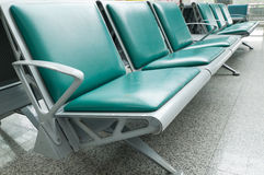 Bench in the shanghai pudong airport. Interior of the airport Stock Image