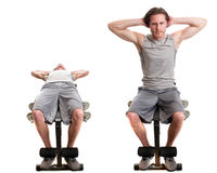 Bench Sit Up Stock Image