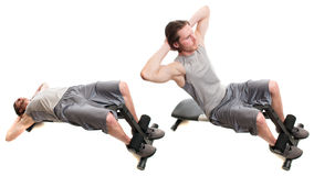 Bench Sit Up Stock Photo