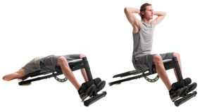 Bench Sit Up Stock Images
