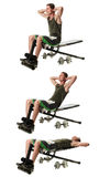 Bench Sit Ups Stock Images