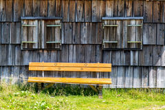 Bench in small village Stock Photos