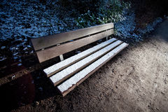 Bench with snow Stock Image