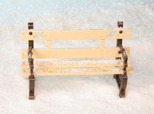 Bench in the snow Stock Photo