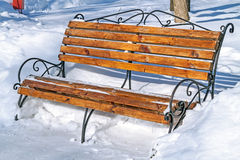 Bench  in the snow Stock Photography