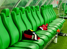 Bench soccer Royalty Free Stock Photography