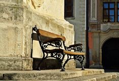 Bench in Sopron. Bench near Fire Tower in Sopron, Hungary Royalty Free Stock Image