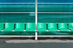 Bench for sports staff Royalty Free Stock Photo