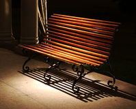 Bench in Spotlight Stock Photography
