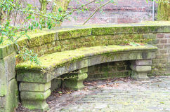 Bench of stone Royalty Free Stock Photography