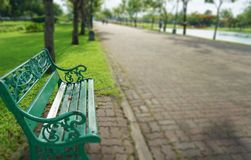 Bench in the Suan Luang Rama 9 park stock photos