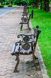 Bench in Suanluang RAMA IX park Royalty Free Stock Image