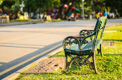 Bench in the summer park Royalty Free Stock Image