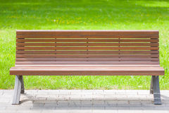 Bench in the summer park Stock Photography