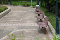 Bench in the summer park Royalty Free Stock Photo