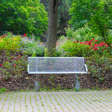 Bench in the summer park Stock Images
