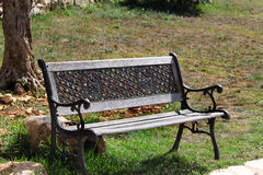 Bench in the Sun Royalty Free Stock Images
