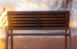 Bench in sun Stock Photography