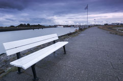Bench in the sundown Stock Photography
