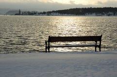 Bench at sunrise Stock Photos