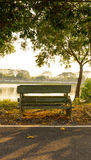 Bench in sunset royalty free stock image