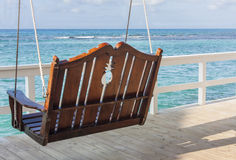 Bench Swing in Tropics Royalty Free Stock Images