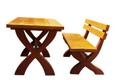 Bench and table Royalty Free Stock Photos