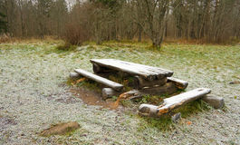 Bench and table Royalty Free Stock Images