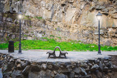 Bench in Tbilisi Royalty Free Stock Photo