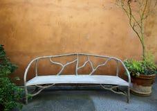 bench tomt Royaltyfria Bilder